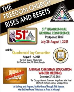 51st Quadrennial General Conference Flyer